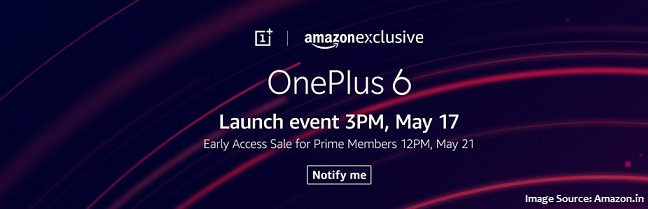 OnePlus 6_launch_release date_Amazon