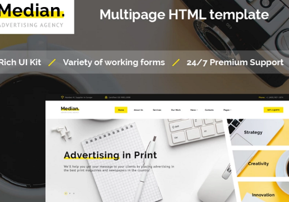 HTML5 Templates – Free Download For eCommerce & Small Business_Advertising Agency HTML5 Template
