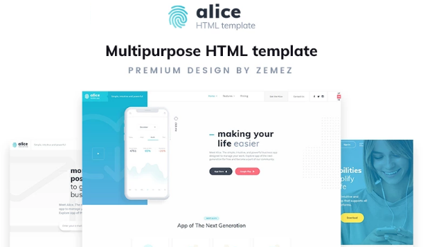 HTML5 Templates – Free Download For eCommerce & Small Business_Application Multipurpose HTML5 Template