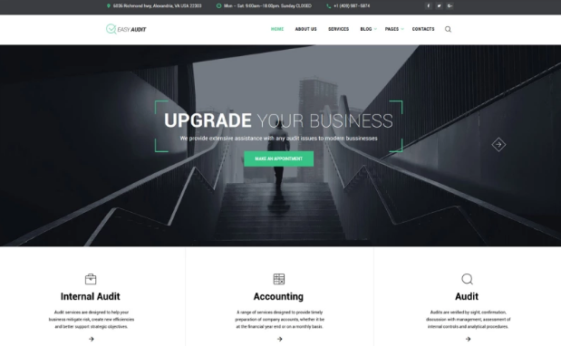 HTML5 Templates – Free Download For eCommerce & Small Business_Consulting Site Template