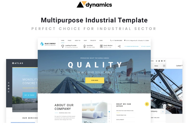 HTML5 Templates – Free Download For eCommerce & Small Business_Industrial Multipage HTML5 Template