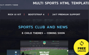 HTML5 Templates – Free Download For eCommerce & Small Business_MultiSports Theme