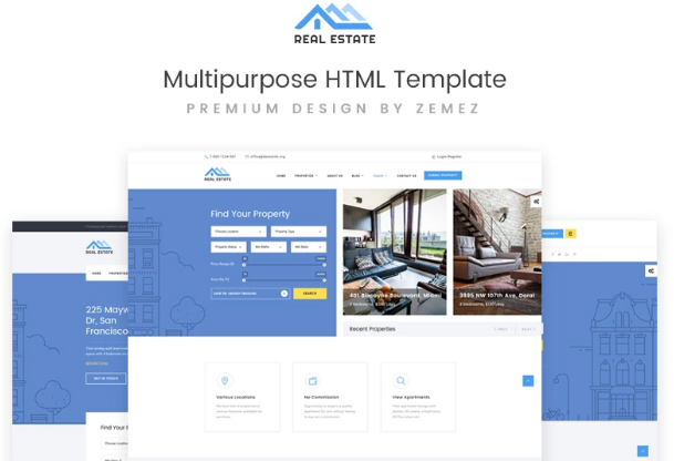 HTML5 Templates – Free Download For eCommerce & Small Business_Real Estate Multipurpose HTML Template