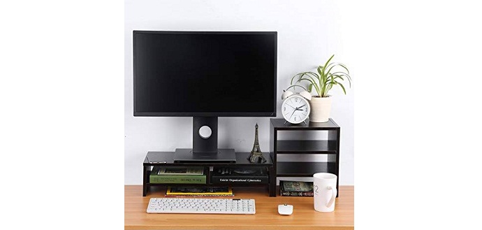 5 Cool Office Gadgets That Will Boost Your Productivity_Monitor Riser with Drawers