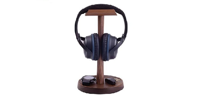 5 Cool Office Gadgets That Will Boost Your Productivity_Wood Headphones Stand
