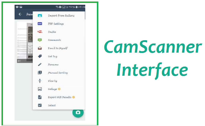 Review - CamScanner - A Mobile Scanner and PDf Creator_Interface_2
